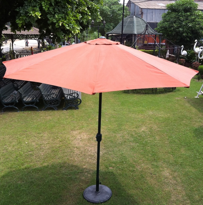 plain orange umbrella
