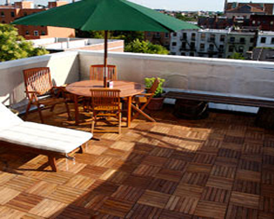 wooden tiles for lawn and