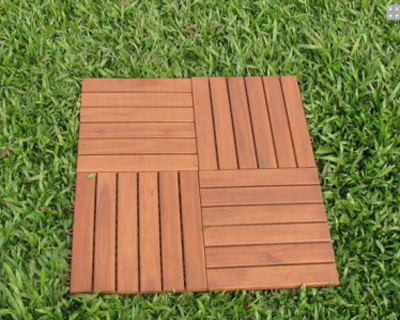 wooden tiles for garden an
