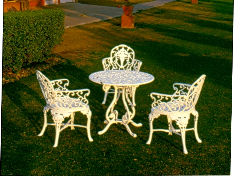 bouquet chairset with high