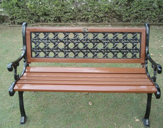 cris-cross garden bench