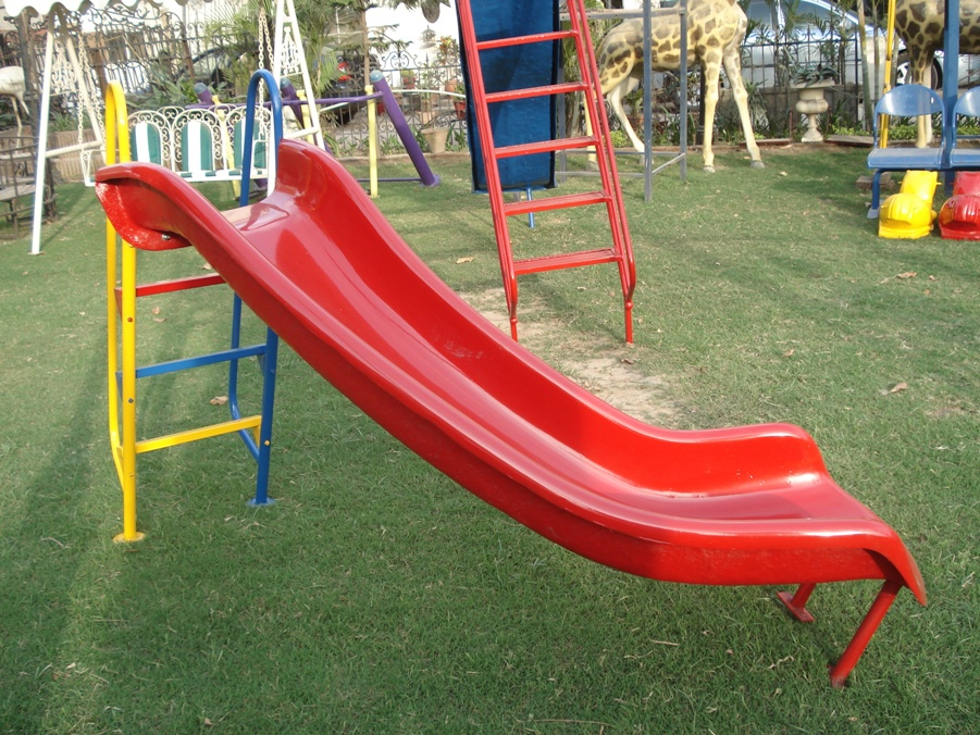 slide with curve landing
