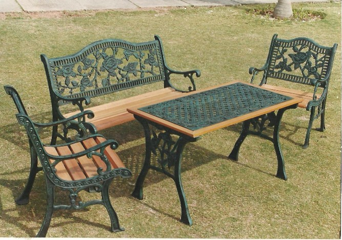 rose arc bench set