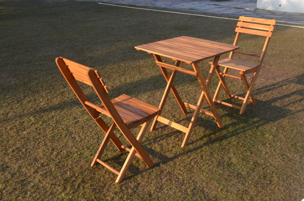 wooden folding chairset