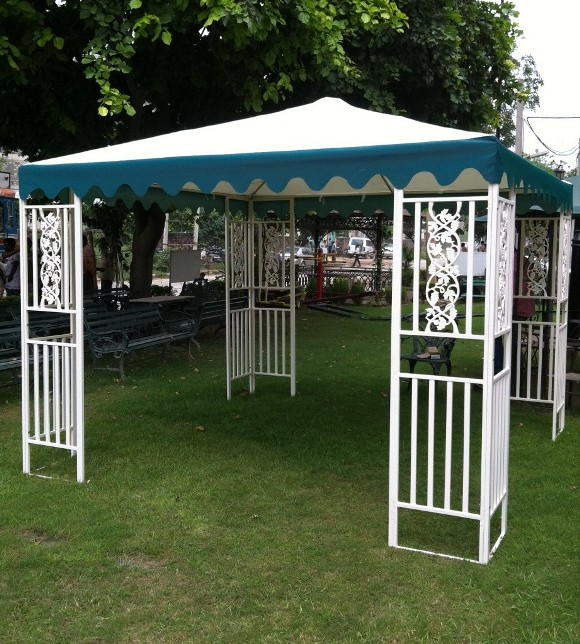 white gazebo white fab wit
